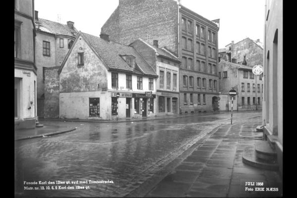 Karl den XIIs gate i 1958. Fotograf: Erik Næss. Fra arkiv etter Tunnelbanekontoret.