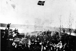 """St. Hansfeiring ved """"Flaggstanga"""" på Oslo Godtemplarungdomsl"""