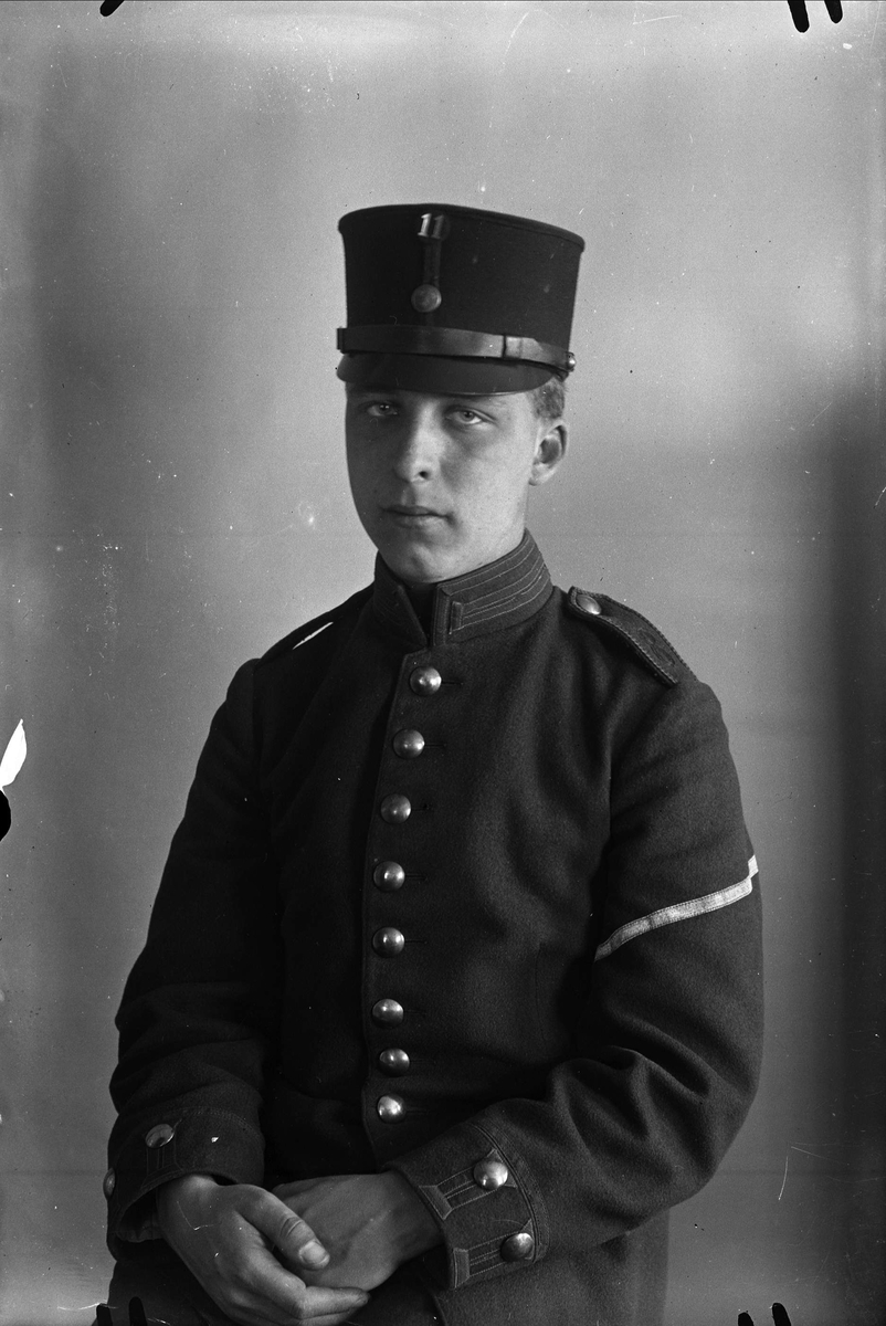 Ung man, militär, Uppsala 1928