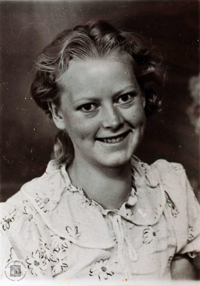 Portrett av Torborg Vormelid. Grindheim.