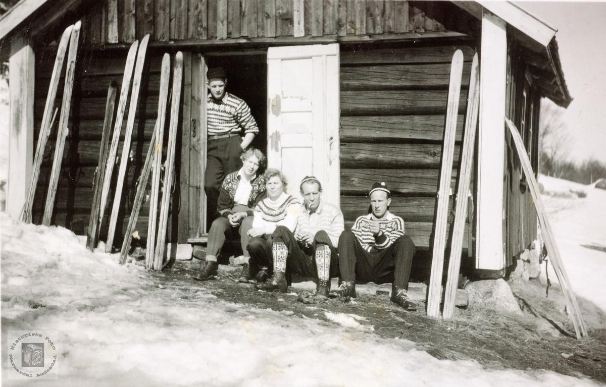 På skitur til Kreklingheia. Audnedal.