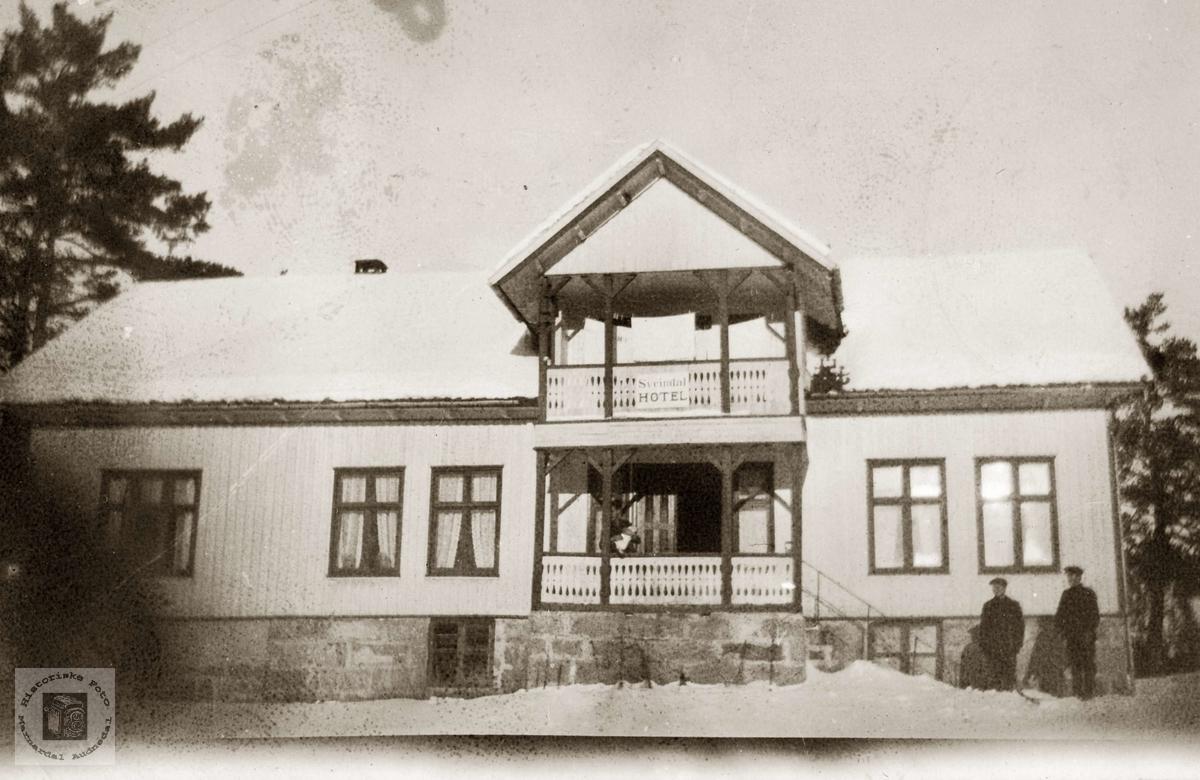 Leinbakken på Sveindal. Grindheim.