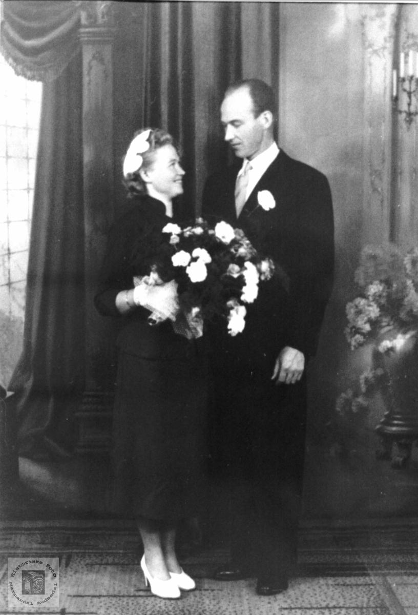 Brudeparet Kristi og Andreas Olsen