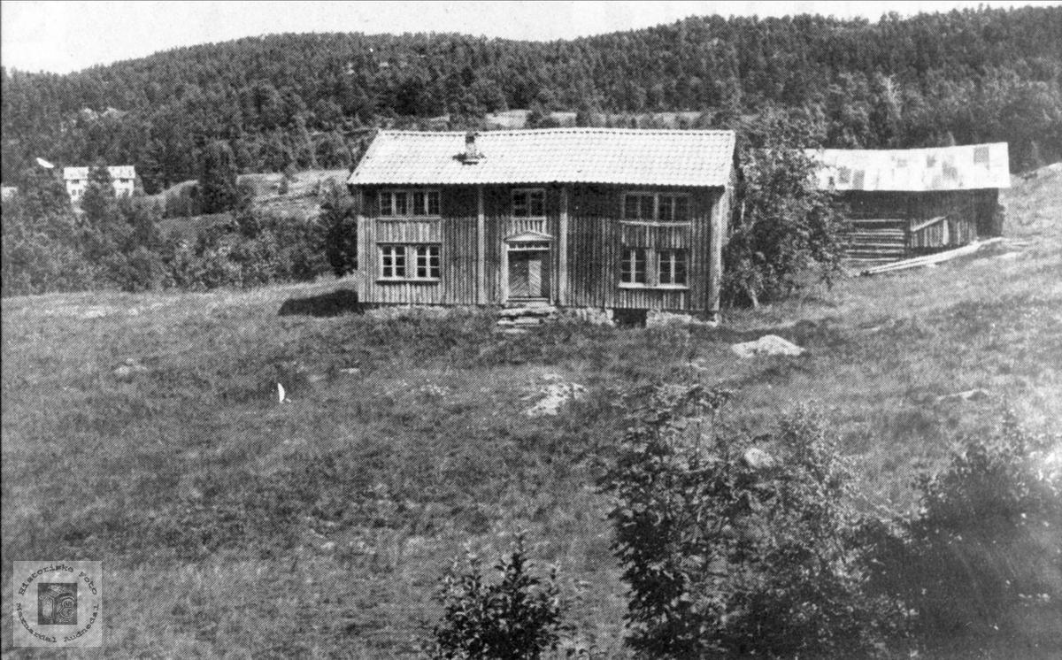 "Heimegarden ""Skogen"" i Grindheim. Kommunal møteplass for Grindheim og Bjelland. (1864-1902)."