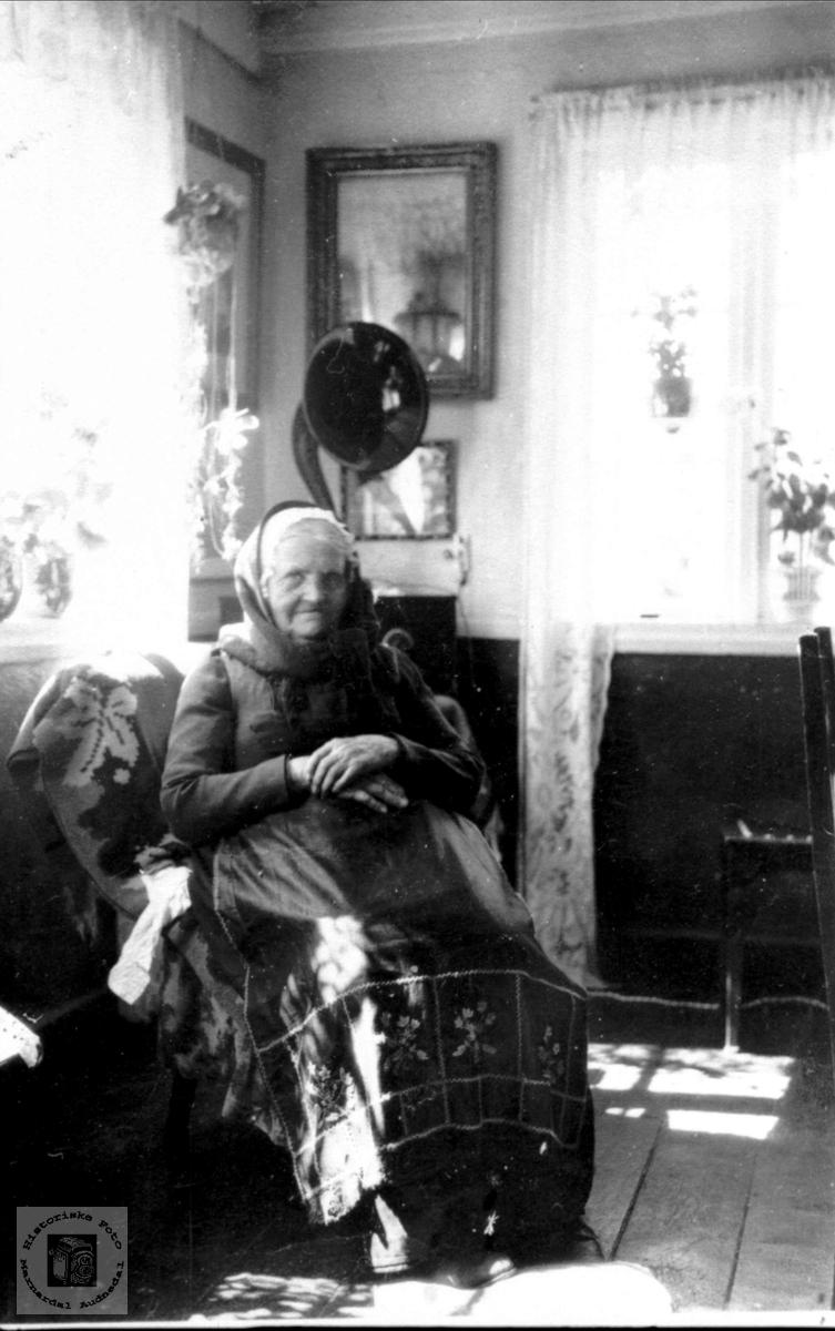 Portrett av Sillebertine Kleveland, Sveinall, Laudal.