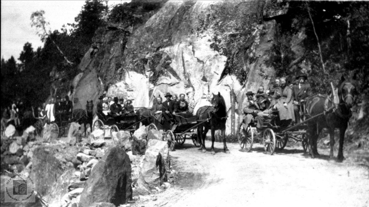 Bryllupstur aust for Vigemyr. Øyslebø.
