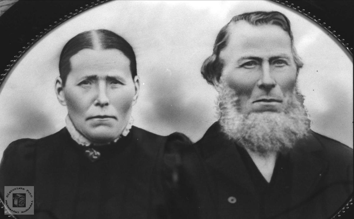 Ekteparet Astri og Gabriel Gangså, Øyslebø.