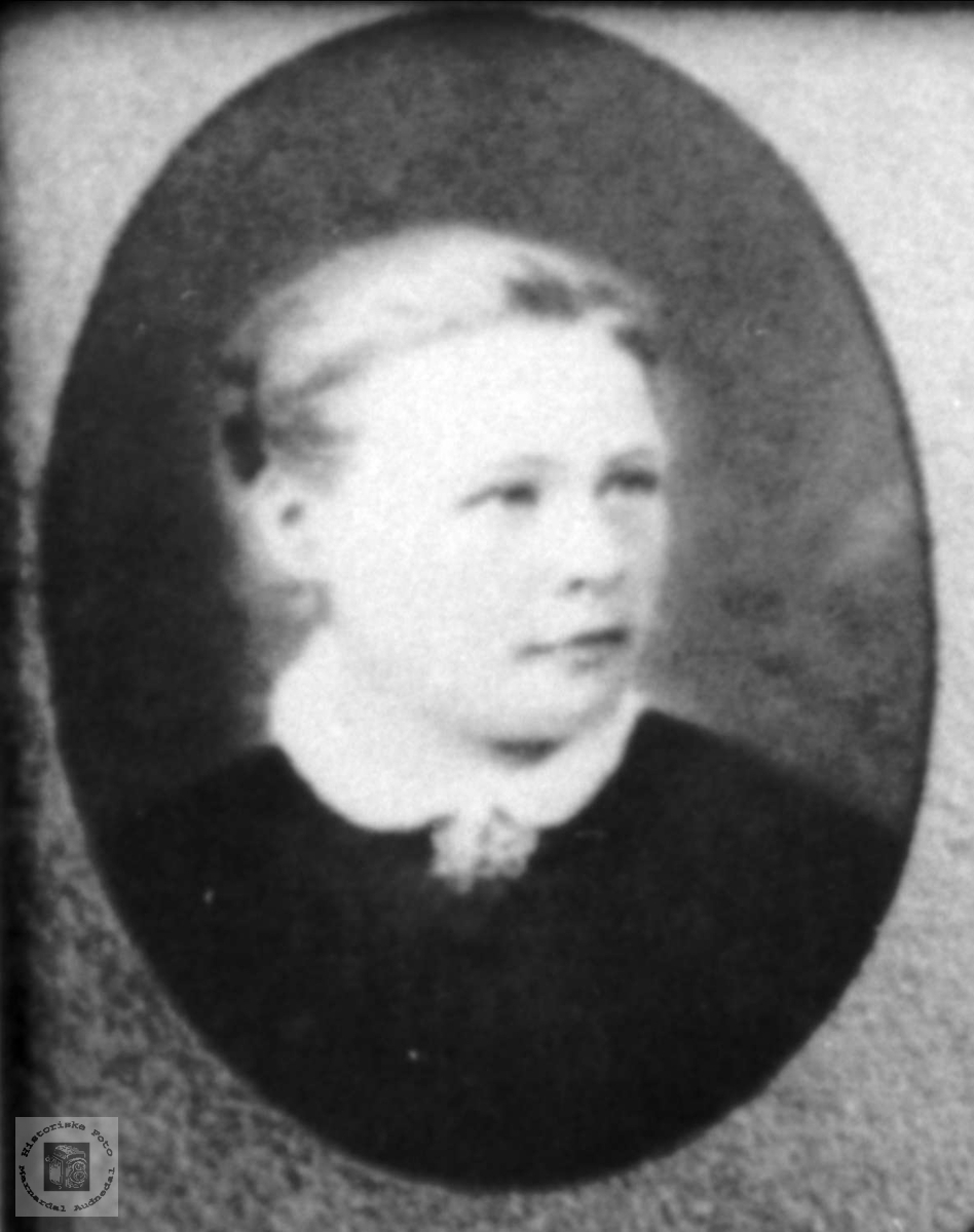 Portrett av Anna d.e. Roland, Bjelland.