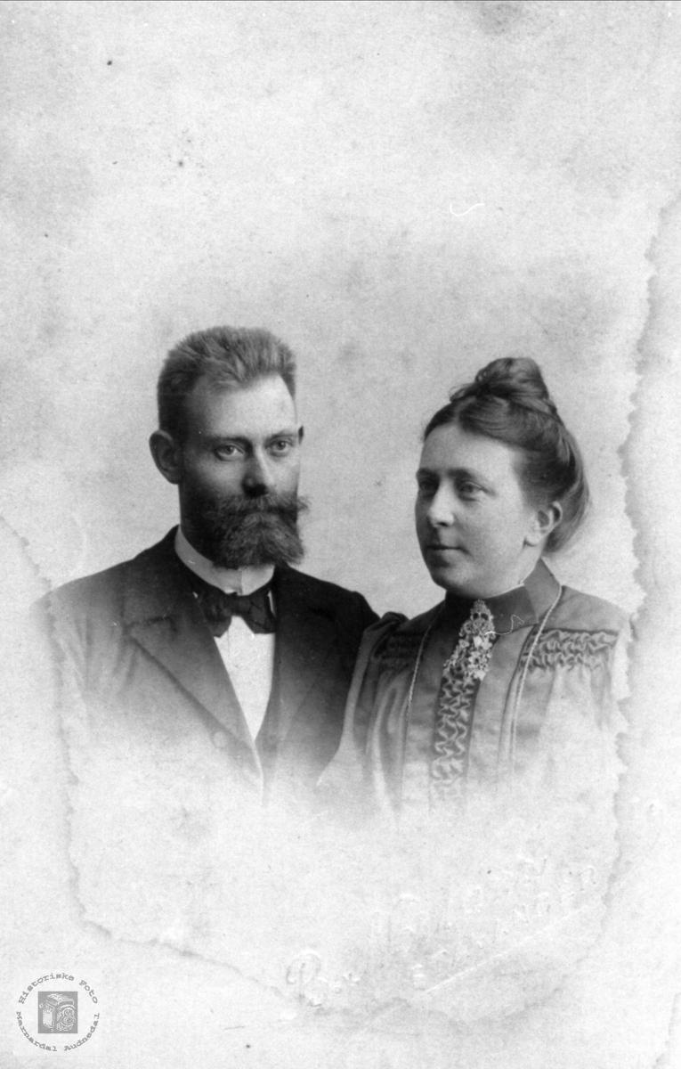 Ekteparet Olaf og Johanne Marie Nome, Øyslebø