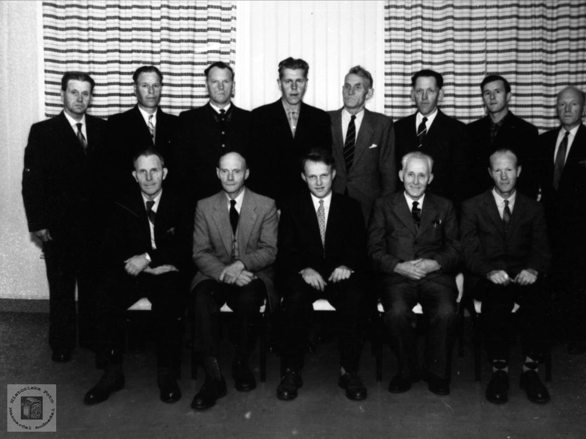 Bjelland kommunestyre 1962.