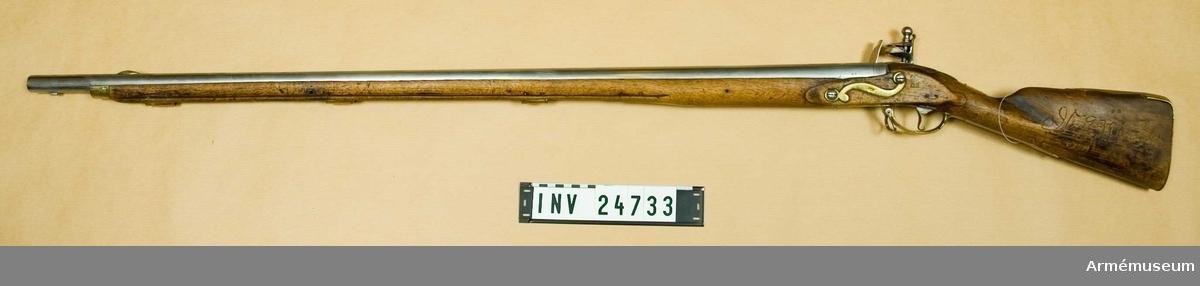 Grupp E II Sammansattt av huvudsakligen preussiska gevärsdelar. Kal. 19,4 mm