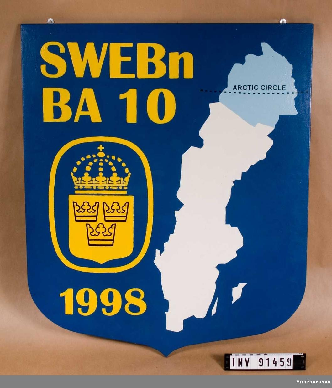 Målad vapensköld av Pi Persson (BA 09)