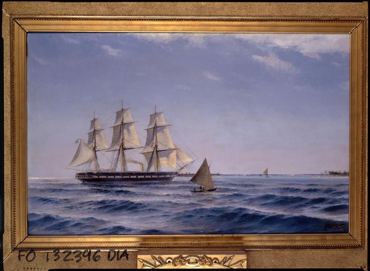 Fregatten Vanadis under verldsomseglingen 1883-85.