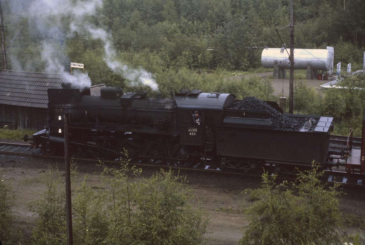 Skifting med damplok 26c nr. 433 på Kongsvinger stasjon.