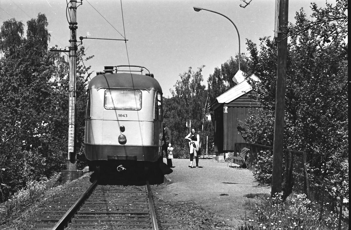 Ekebergbanen, Oslo Sporveier. Vogn 1043.