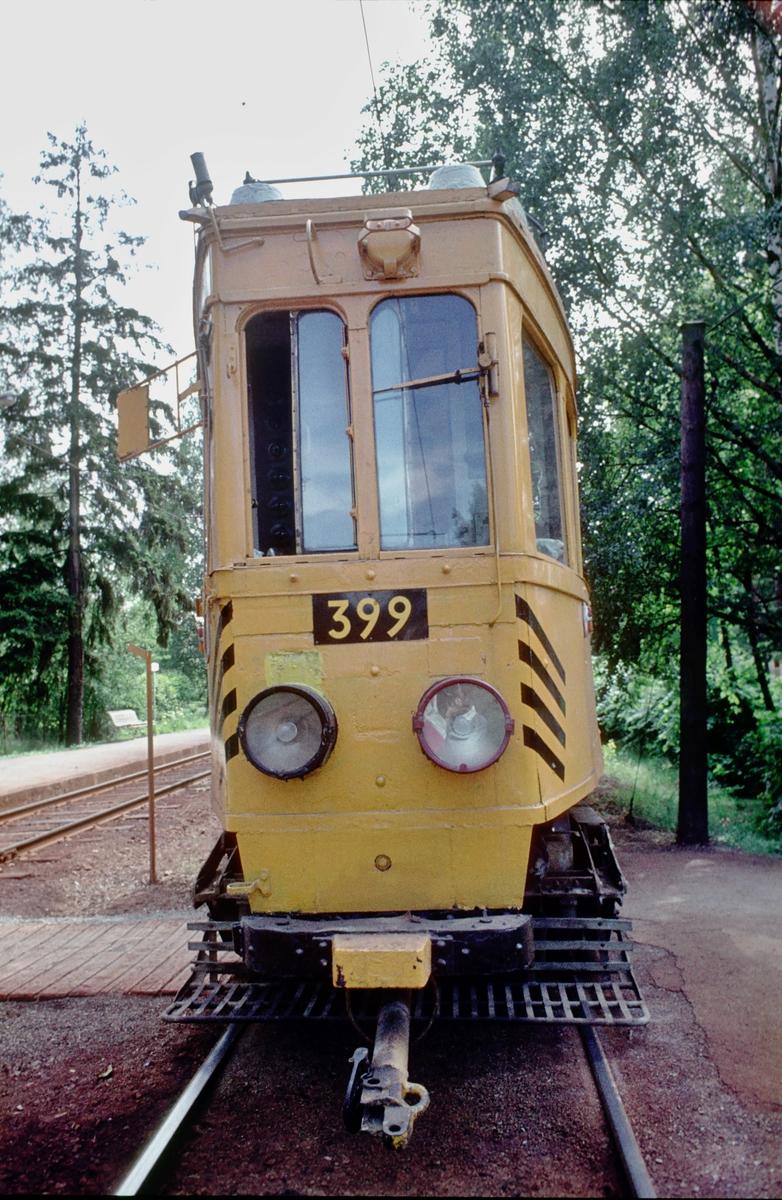Ekebergbanen, Oslo Sporveier. Arbeidsvogn 399, opprinnelig vogn 1007 fra 1920.