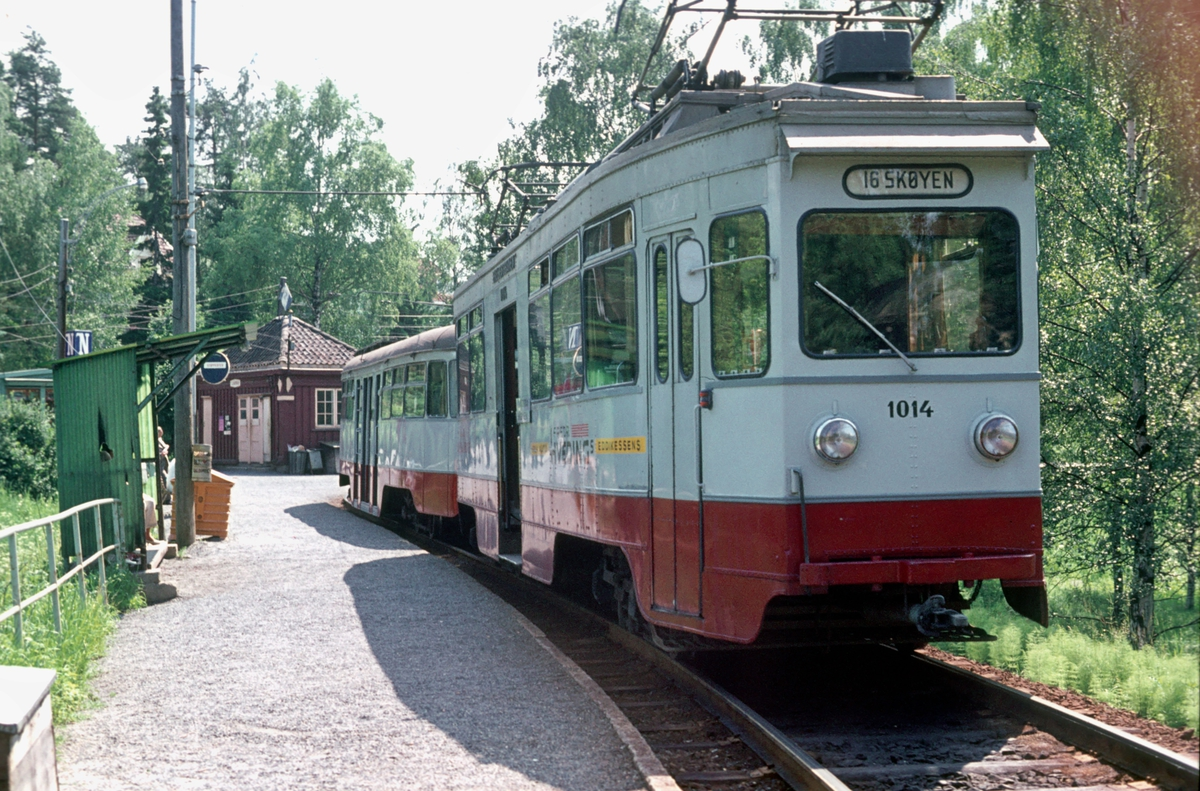 Ekebergbanen, Oslo sporveier. Vogn 1014. Ljabru.
