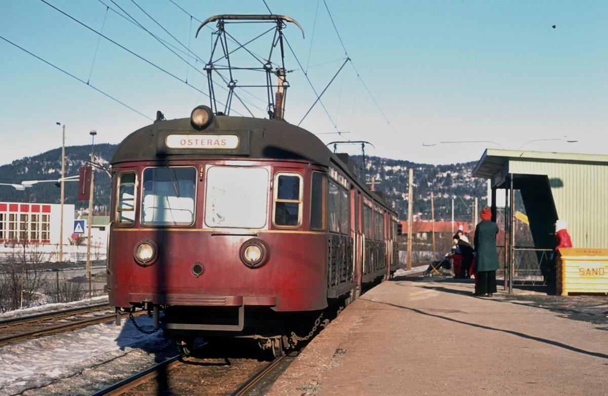 A/S Holmenkolbanen. Oslo Sporveier. Røabanen. Vogn 503, type 1946 (Skabo, NEBB).