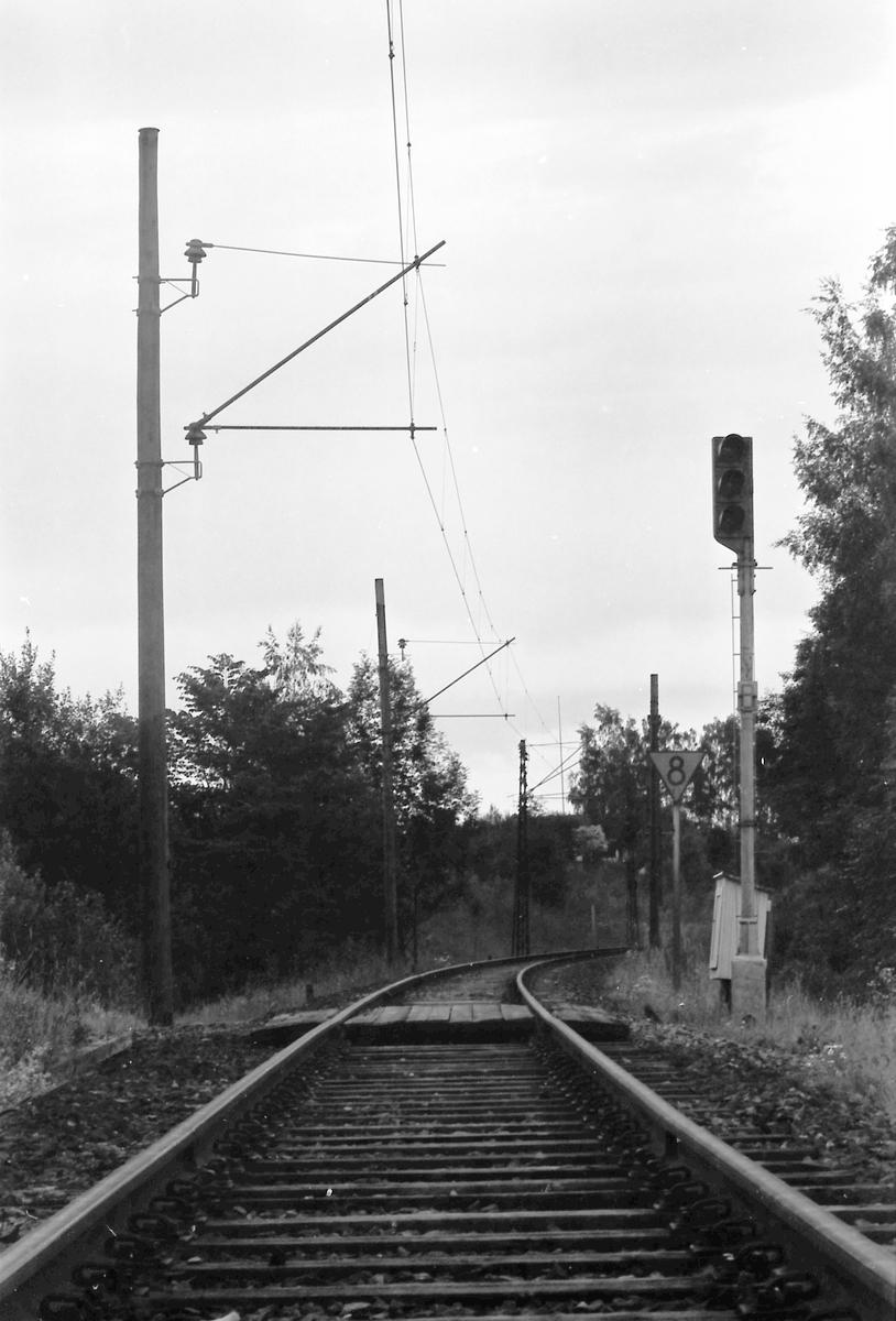 Innkjørhovedsignal B Spikkestad, for innkjøring fra Lieråsen.