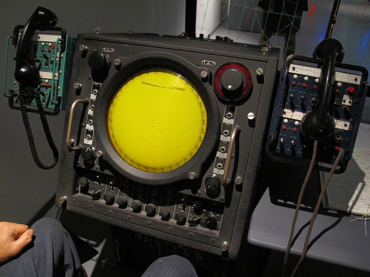 Radarkonsollet viste radarbilde fra egen radar.