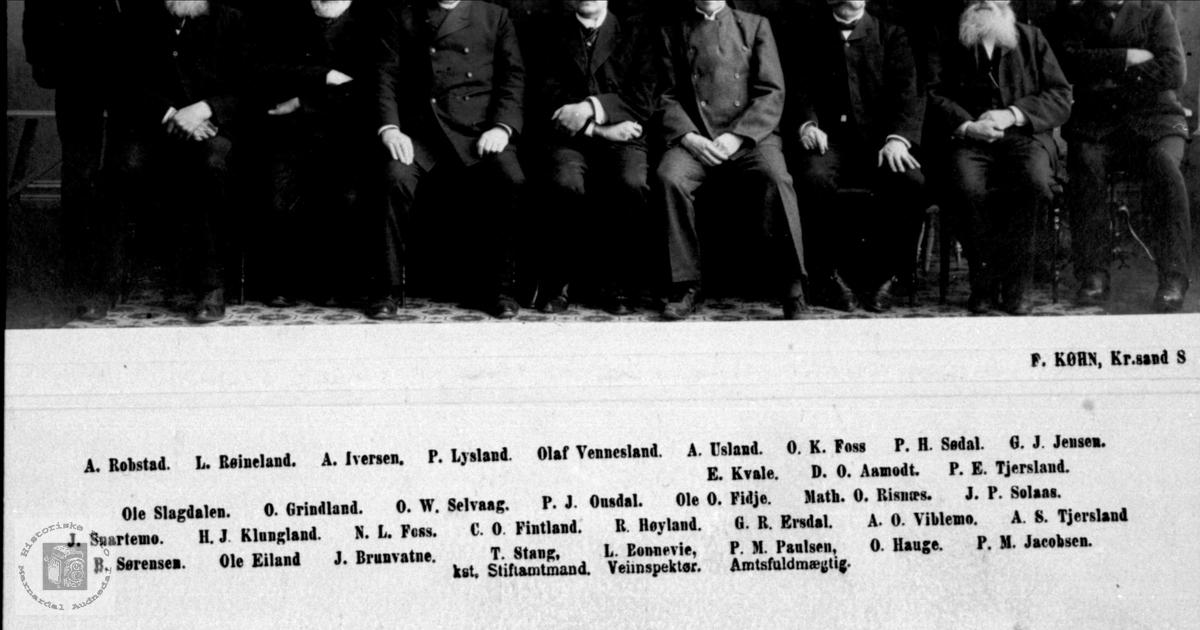 Navneliste til Lister og Mandals Amtsting 1906
