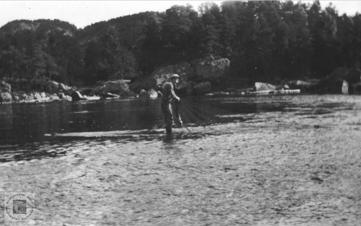 Garnfiske nedenfor Pottekjær