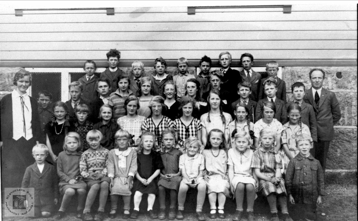 Skolebilde, Øyslebø skole