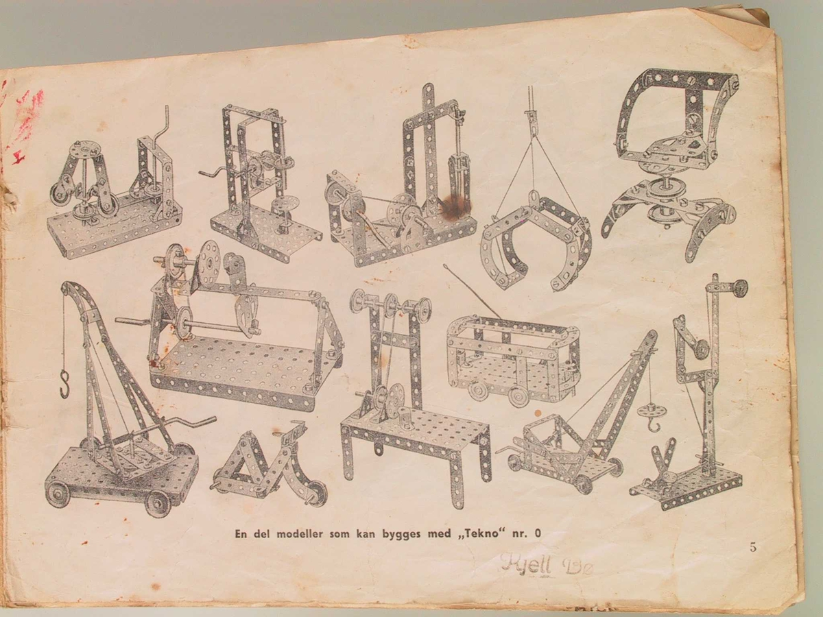 Mekanisk heisekran bygd av Tekno