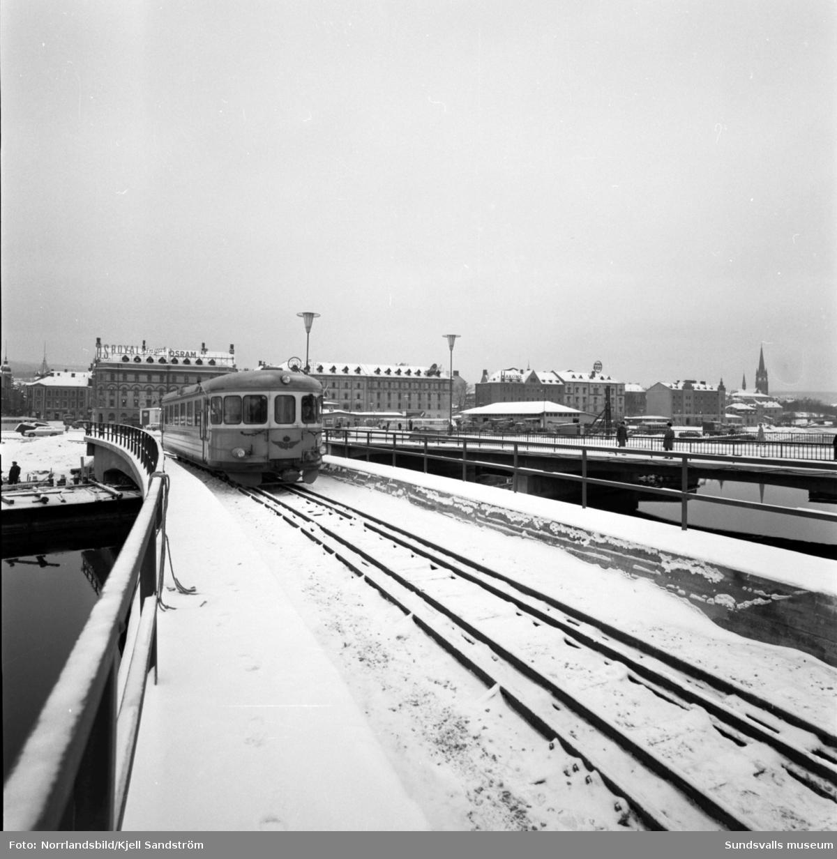 Invigning av järnvägsspåret till Ortviken.