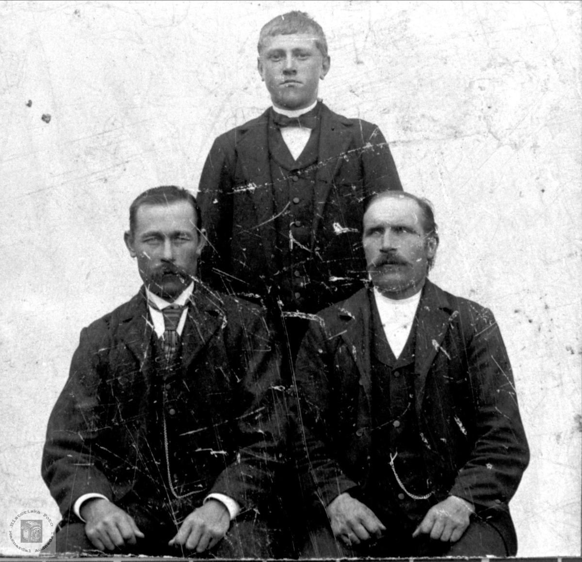 Portrett av Ole Abelset, Knut Abelset og Jens Hjemlestad