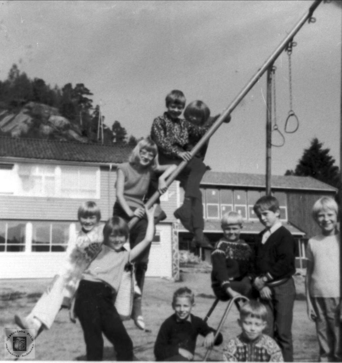 Friminutt på Bjelland skole.