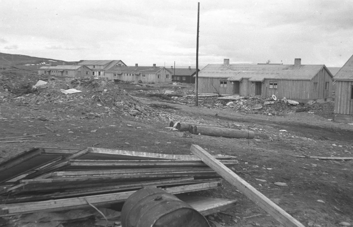 Fotografi av brakker i ytrebyen i Vadsø.