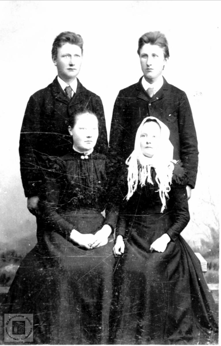 """""""Firkløver"""". Syvert, Ånen, Kristine og Olaug Ågset."""
