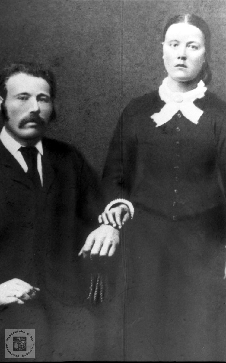 Brudepar. John og Anne Tomine Svinagel.