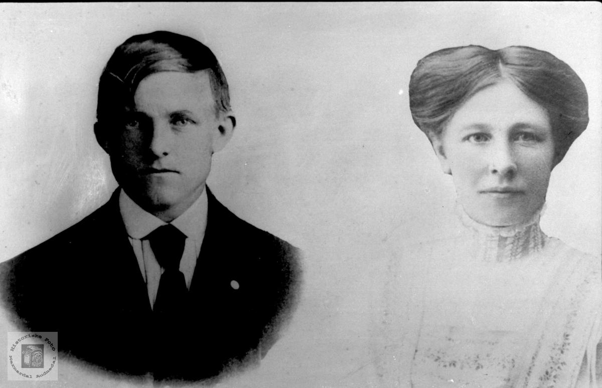 Ekteparet Anton og Sofie Lindland.