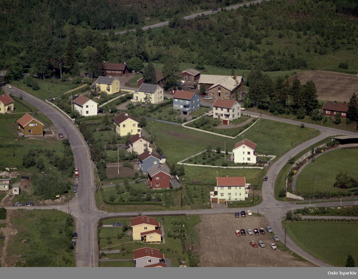 Kjelsåsveien, Radioveien, Lytterveien, Brekkeveien (Flyfoto)