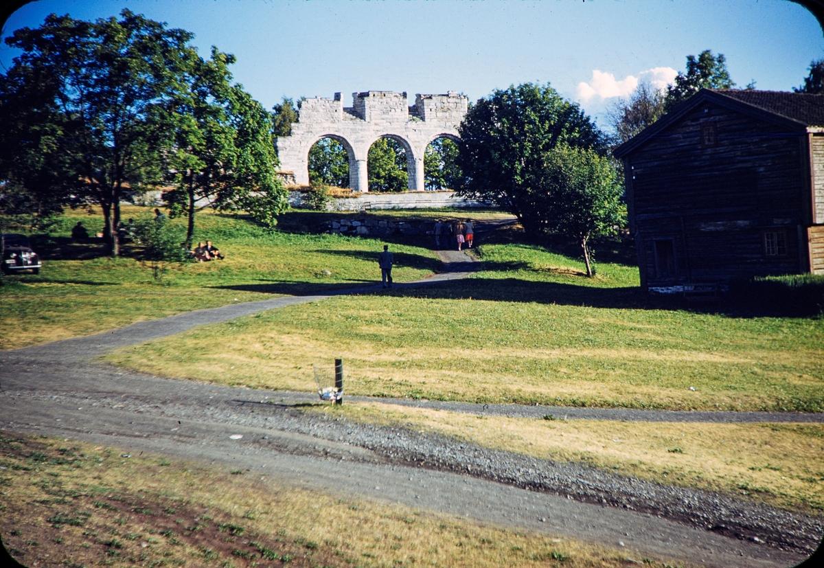 Domkirkeodden, Hamar. Domkirkeruinen.