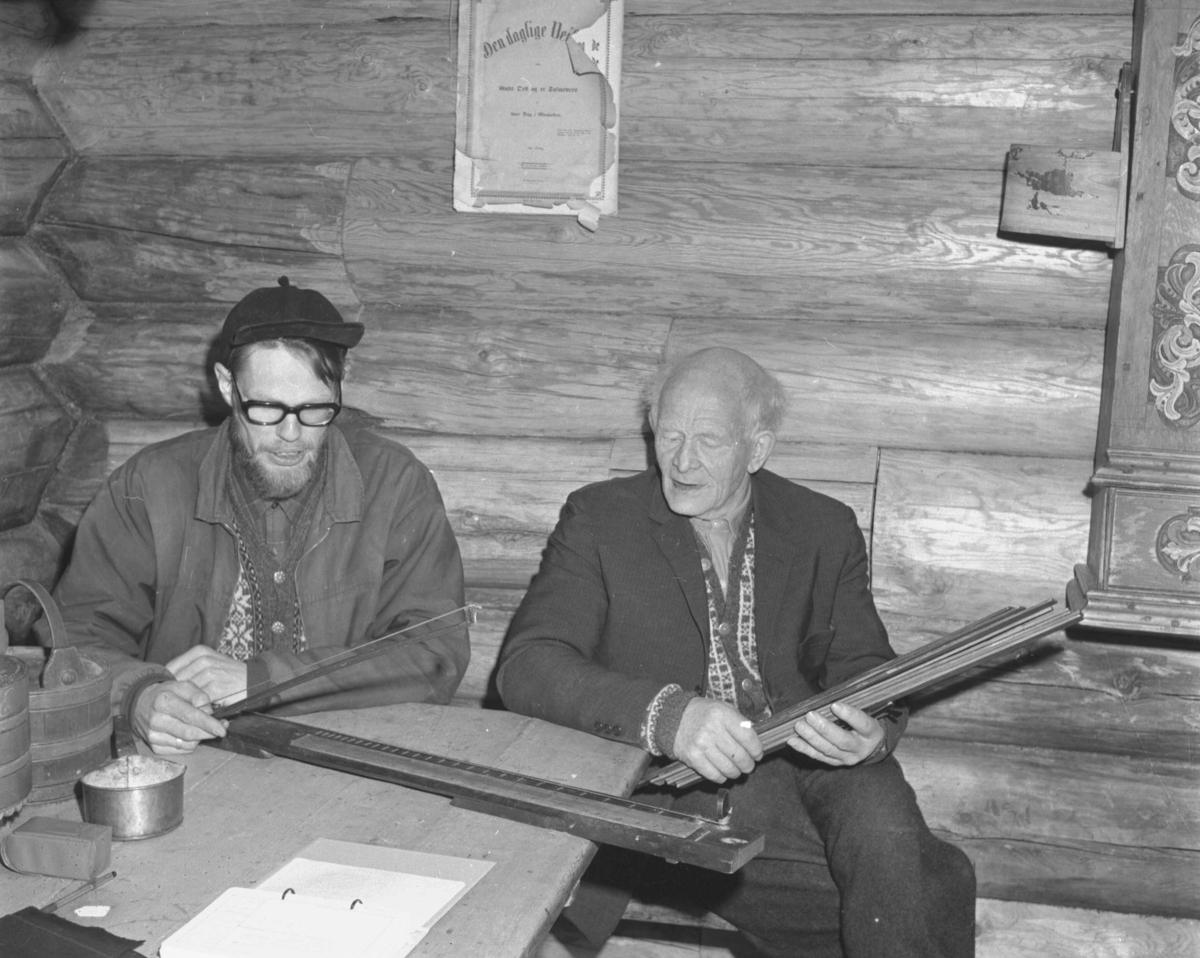 Alvdal, Husantunet, Museum, To menn spiller salmodikon