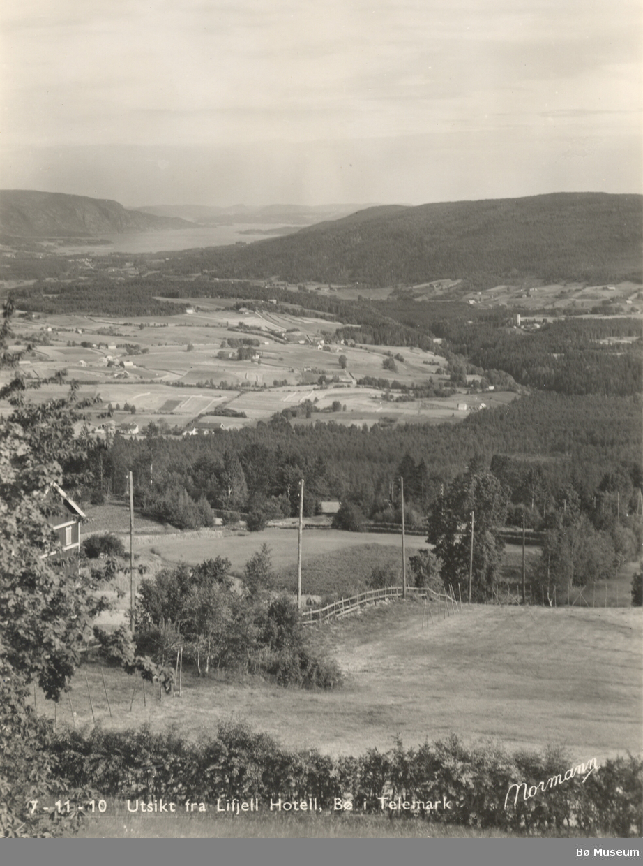 Utsikt frå Lifjell Hotell