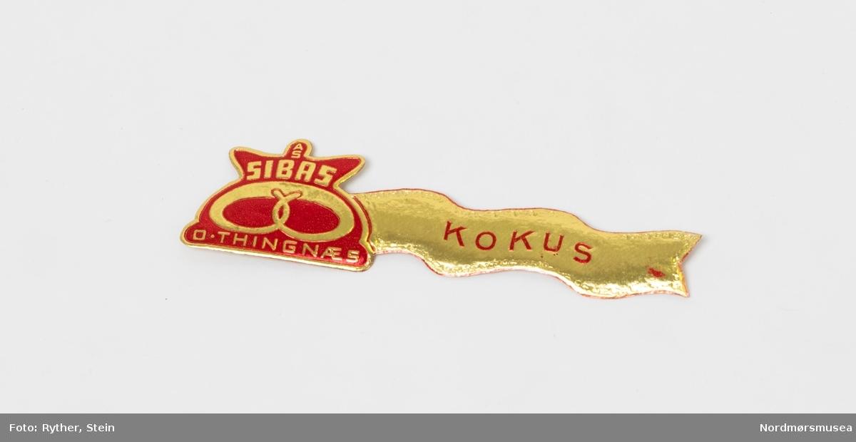 Etiketter til å merke på emballasje. Brukt av Sibas bakeri i Kristiansund.