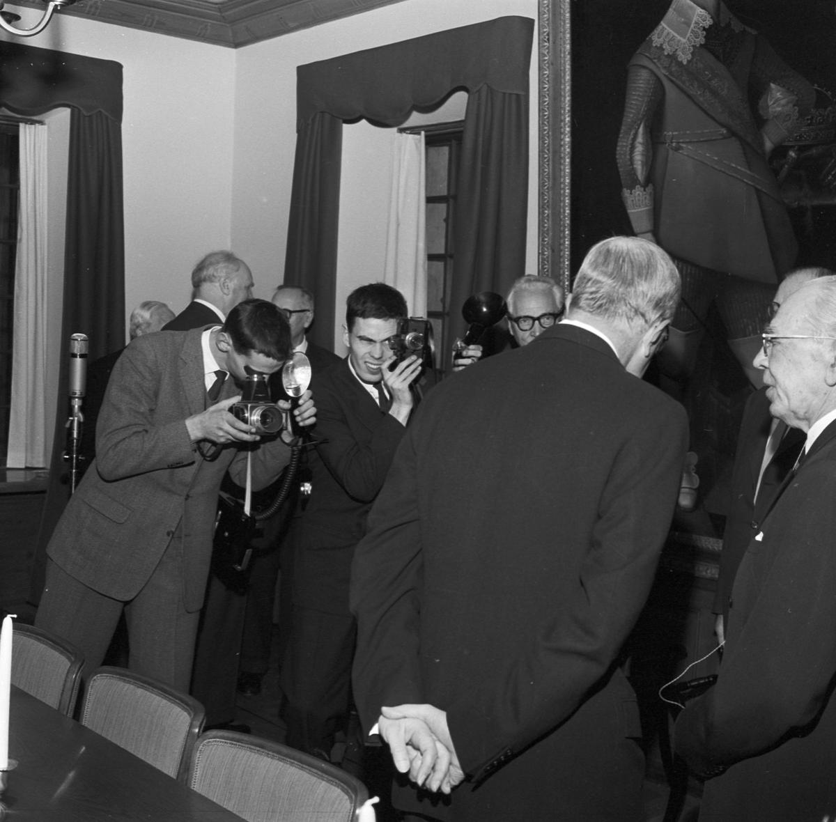 Gustav Adolfs Akademien, invigning av nya lokaler med kungen som hedersgäst, Uppsala 1958