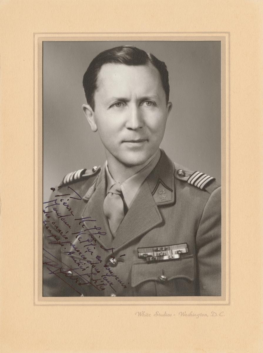Porträtt av överste D. Furé(?), franska armén.