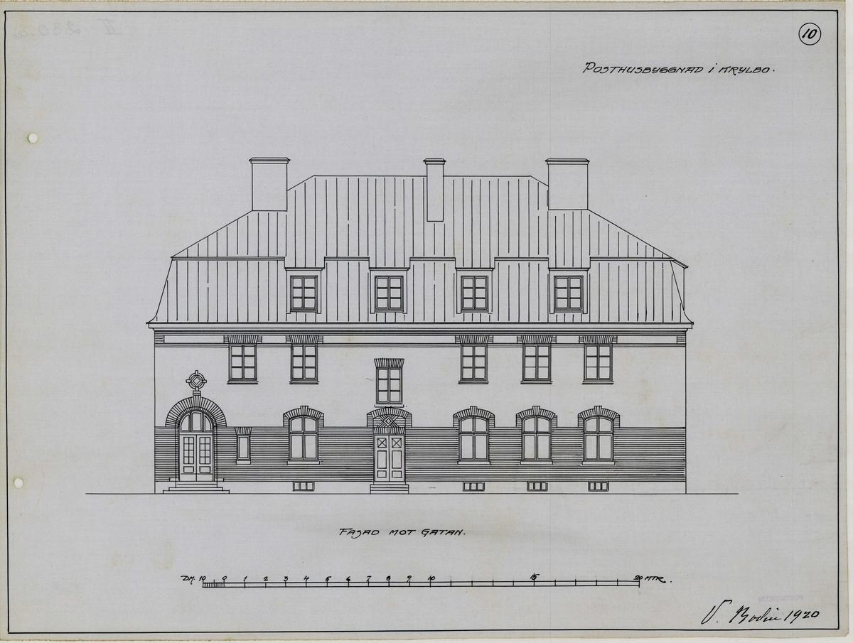 Förslag till posthus i Krylbo.