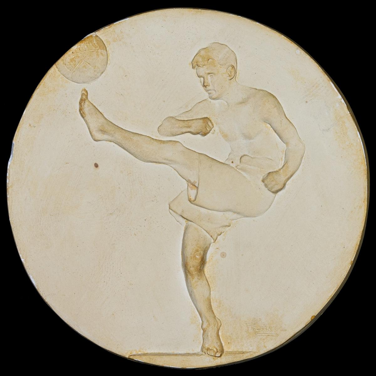 Relief föreställande idrottsutövare.