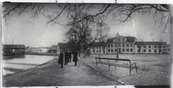 Fiskartorget, Västerås, 1870-talet.