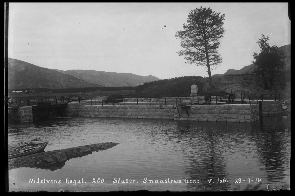 Arendal Fossekompani i begynnelsen av 1900-tallet CD merket 0446, Bilde: 27 Sted: Småstraumen Beskrivelse: Regulering