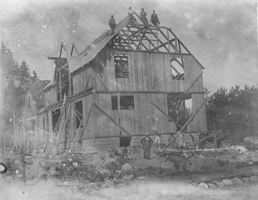 Huset i Nordbyvn. 31 under bygging.