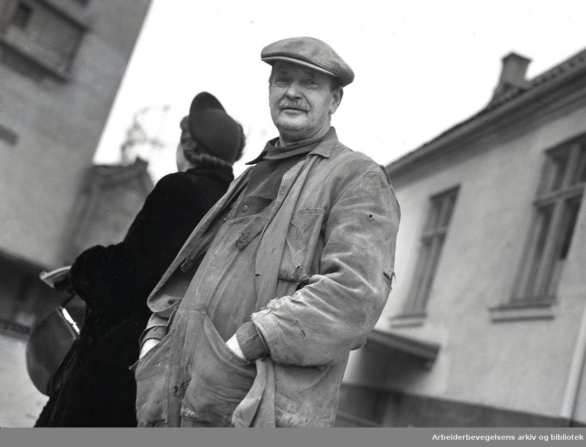 Nedre Foss Mølle,.desember 1950