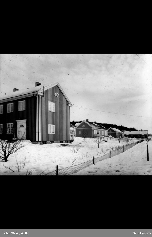 Småhusbebyggelse og trevillaer, Godlia, vinter