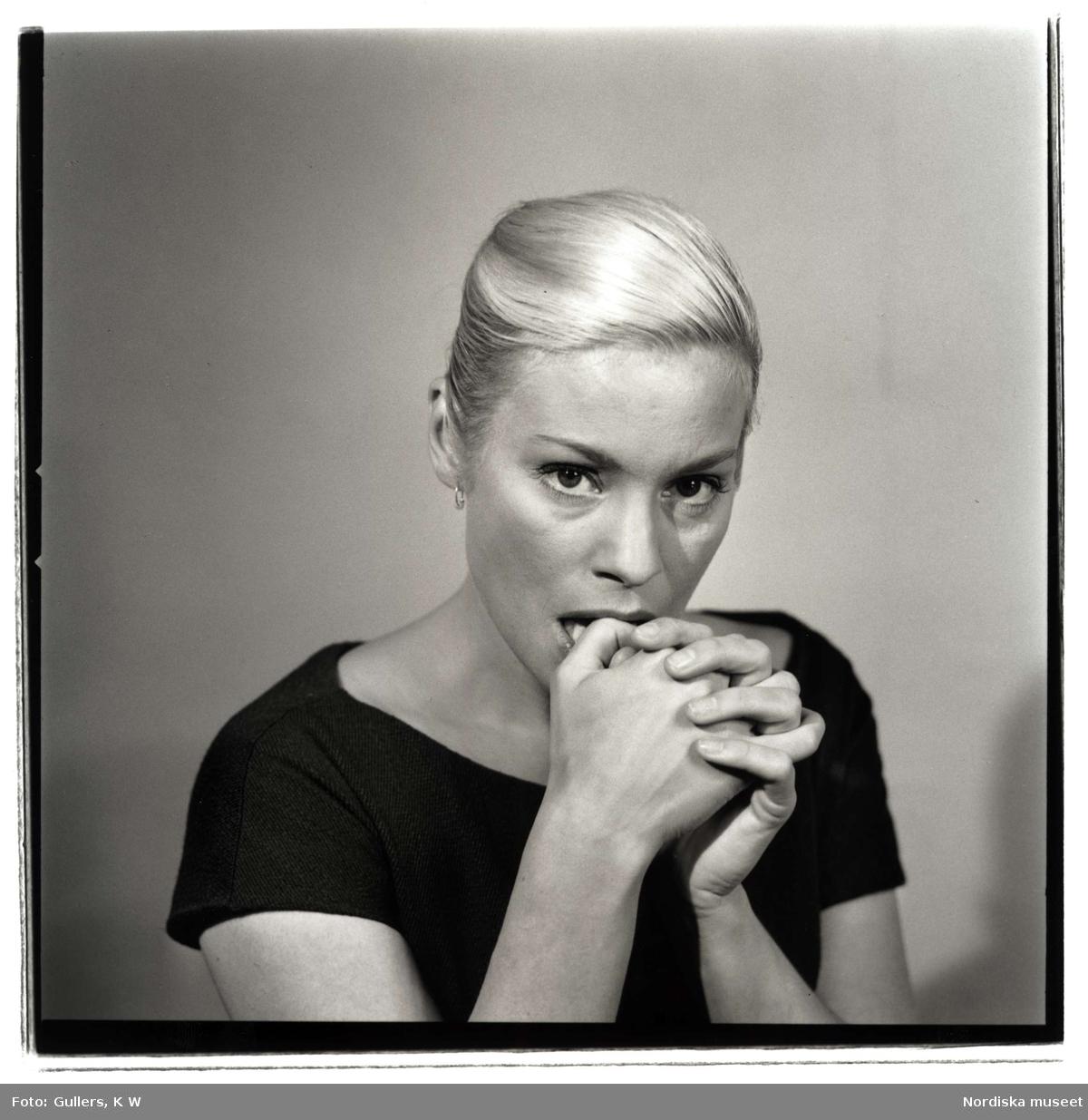 Porträtt av skådespelerskan Ingrid Thulin.